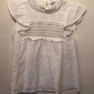 Zara Cream Blouse Size Small